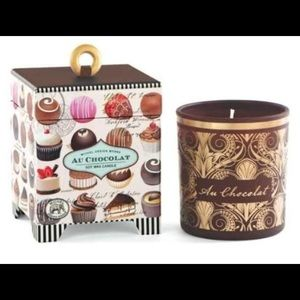 NWT Chocolate scented candle in gift box